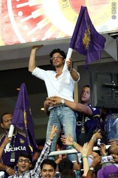 Shah Rukh Khan at ...the opening game KKR vs MI at Abu Dhabi.