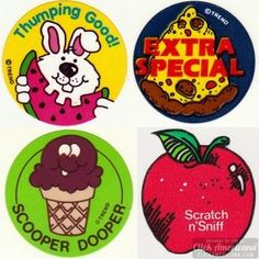 How many of these cool old scratch-n-sniff stickers do you remember?