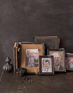 Paranormal Portraits  You'll never look at loved ones the same way after transforming their images into a ghostly display.    Read more: Scary Halloween Decorations - Craft Ideas for Halloween - Country Living