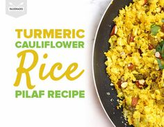 Sweet, savory, crunchy and soft -- this Paleo pilaf rivals your favorite Middle Eastern version. Turmeric Cauliflower, Cauliflower Recipes, Cauliflower Rice, Rice Recipes, Low Carb Recipes, Paleo Recipes, Low Carb Side Dishes, Anti Inflammatory Recipes, Vegetable Dishes