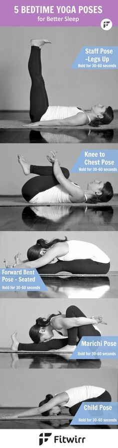 Sometimes what your body and mind need the most is to feel calm and relaxed, specially after a hard day at work. Here are five bedtime Yoga poses that can help you relax, stretch, calm and sleep better. -- http://realresultsin3weeks.info/