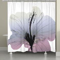 Wild Grape Hibiscus X-Ray Flower Shower Curtain Luxury Shower Curtain, Beach Shower Curtains, Flower Shower Curtain, Striped Shower Curtains, Shower Liner, Modern Rustic Interiors, Coastal Decor, Hibiscus, Lily