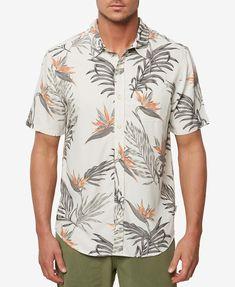 Rose town Funky Hawaiian Shirt for Men Shortsleeve Casual Button Down Small Flower