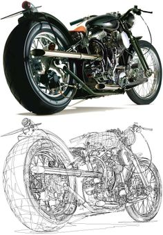 BAISON, by Yukio Miyamoto, one of the greatest vector illustrators of all time. Racing Motorcycles, Indian Motorcycles, Moto Cafe, 3d Mesh, Prisoners Of War, Car Drawings, Automotive Art, Street Bikes, Sport Bikes