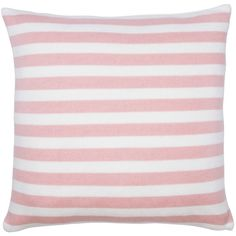 EIGHTMOOD Sanne Light Pink/White Pillow - 18x18 ($40) ❤ liked on Polyvore featuring home, home decor, throw pillows, white accent pillows, white toss pillows, white home decor, baby pink throw pillows and white throw pillows