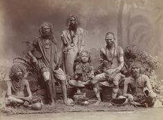 Group of Yogis  Colin Murray for Bourne & Shepherd, ca. 1880s  Albumen print, 22.2 x 29.2 cm  Collection of Gloria Katz and Willard Huyck