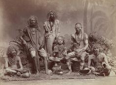 Group of Yogis  Colin Murray for Bourne & Shepherd, ca. 1880s  Albumen print, 22.2 x 29.2 cm  Collection of Gloria Katz and Willard Huyck
