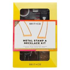 Brit + Co® Metal Stamp a Necklace Kit - Makes 2