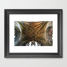 "FRAMED FINE ART PRINT/ BLACK MINI (12"" X 10"") Scottish Rose Scotland cathedral gothic architecture magic geometric abstract photography  by LaCatrina.it"