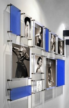 Easy change floating frames Wallscapes inspired by the art of Piet Mondrian Transform any space into an art gallery Frameless frame with standoffs gallery walls