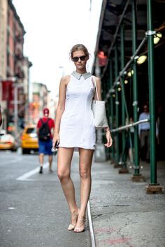 #GiedreDukauskaite rocking Marc Jacobs in white #offduty in NYC. #OnAbbotKinney