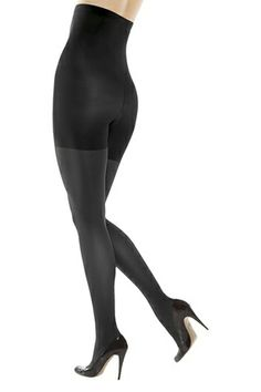 """The Definitive List Of Black Tights #refinery29 """"Brand: Assets Why you love them: They are much more inexpensive than Spanx but still hold all of my jiggle together. Plus, the pair I snagged a few years ago has not ripped once, and they are reversible between a charcoal and a black, which is AWESOME!"""""""