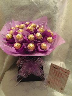 Ferrero rocher chocolate bouquet by Sweetcreationsstoke on Etsy