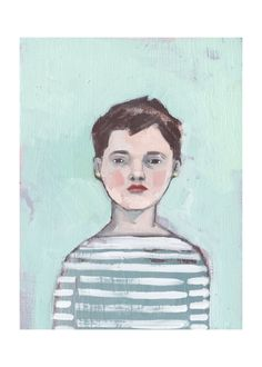 """Amanda Blake- """"Lisa""""- limited edition of 10 print of original oil painting Blue Painting, Painting For Kids, Children Painting, Dix Blue, Face Art, Art Faces, Portraits, Portrait Paintings, Abstract Portrait"""