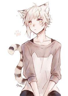 Art anime manga kawaii beautiful neko lion boy bungou_s Anime Neko, Anime Yugioh, Manga Anime, Anime Pokemon, Anime Kawaii, Kawaii Chibi, Neko Neko, Anime Boys, Anime Cat Boy