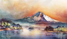 The Art of Michael David Sorenson Mount Hood Through Stained Glass