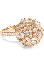 18-karat rose gold diamond ring - Suzanne Kalan