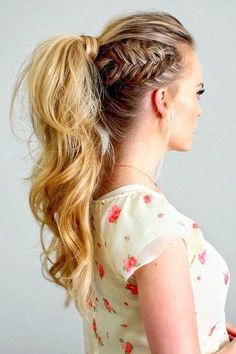 Side Fishtail Ponytail - The Coolest Ponytail Hairstyles Ever - Photos