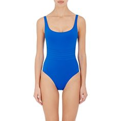 Eres Asia One-Piece Swimsuit (1,110 PEN) ❤ liked on Polyvore featuring swimwear, one-piece swimsuits, blue, see through swimsuit, transparent swimsuits, see through bathing suits, one piece bathing suits and blue swimsuit