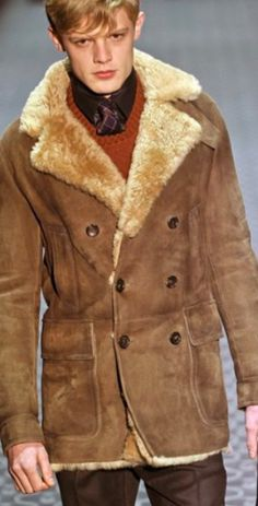 Mens Fall 2011 Gucci Shearling Suede Coat with Fur | A Gentleman's ...