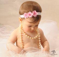 Baby Headband - Infant Headband - Newborn Headband - Toddler Headband - Red Triple Flowers - Christmas Photography Prop. $9.95, via Etsy.