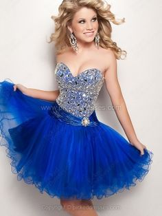 Wholesale - Ball Gown Sweetheart Tulle Short/Mini Sequins Prom Dresses