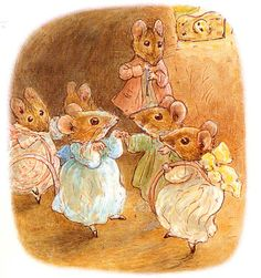 The Tale of Mrs. Tittlemouse - 1910 - Tittlemouse and Five Mouse Party