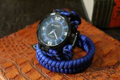 Blauw met zwart 20cm | VOS Paracord /#paracord