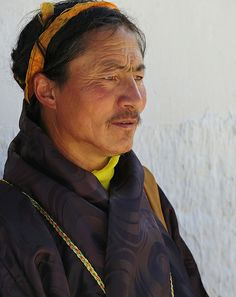 Portrait of a Tibetan Nomad on pilgrimage in Labrang Tashi Kyil monastery, Tibet 2012