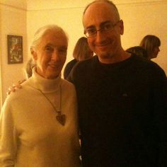 Jane Goodall y Richard Zimmerman