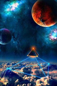 Pyramid Moon    ----  I kind of love this illustration.  Fantastic color sense.
