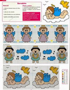 Female Profession: Patterns for cross stitch: Partitions and borders for kids