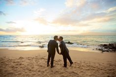 Same sex beach wedding portraits in Maui   Anna Kim Photography