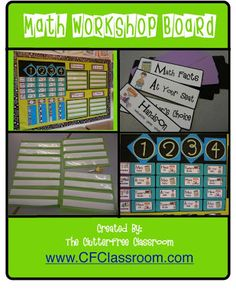 Clutter-Free Classroom: My Math Workshop Rotation Board -Setting Up the Classroom Series