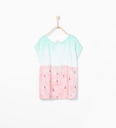 Image 2 of Shiny fruit T-shirt from Zara