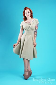 Beverly Dress in Green Gingham from Heartbreaker, via Pinup Girl Clothing