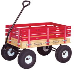 AMISH HEAVY DUTY WAGON - Red Green Pink Blue 33x19.5 Bed Solid Quality Cart USA Made