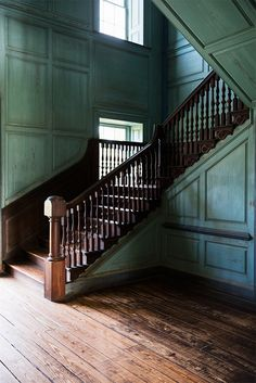 Painted and distressed woodwork in stately southern home.
