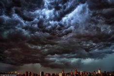 Skyline: 7-26-12: The storms sent black, menacing clouds rolling across New York City on Thursday