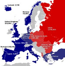 Warsaw Pact - The Cold War (1945–90): NATO vs. the Warsaw Pact, the status of forces in 1973