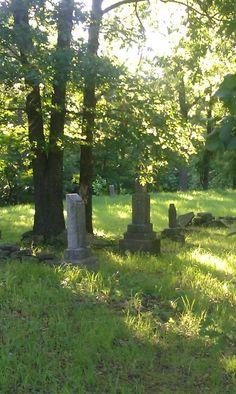 Indian cemetery in Copan, OK.
