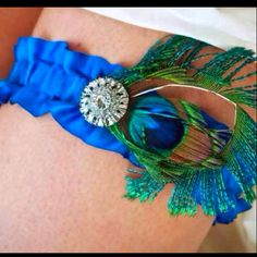 My peacock garter. Also from etsy..