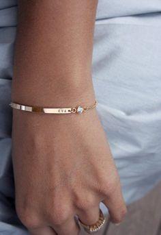 Bar Bracelet With Birthstone