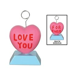 Party Supplies | Valentine's Day | Hearts...Throw a great Valentine's Day party and decorate with this Candy Heart Photo/Balloon Holder! Use it to tie down balloons or place fun photos between the wires and let the fun begin.