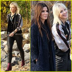 Cate Blanchett Rocks Leather Pants While Filming 'Ocean's Eight' With Sandra Bullock