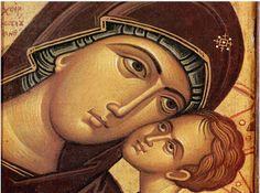 ✟: Προσευχή για ξεμάτιασμα Orthodox Icons, Virgin Mary, Ikon, Religion, Artwork, Painting, Pray, Spiritual, Greek