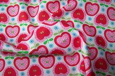 Baumwoll Popeline Äpfel Blumen Polka Dots Deko Patchwork Stoff J.Swafing Nora