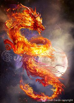 Fire dragon by Vasylina on DeviantArt