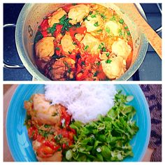 """Kat's """"Fish Chicken Curry."""" Chicken curry made with ingredients traditionally used for fish curry. Zesty and tangy."""