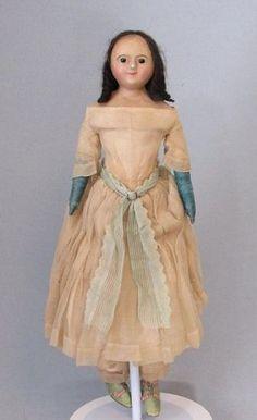 """19"""" All Original Slit Head Wax Doll, 1930 - Faraway Antique Shop #dollshopsunited"""